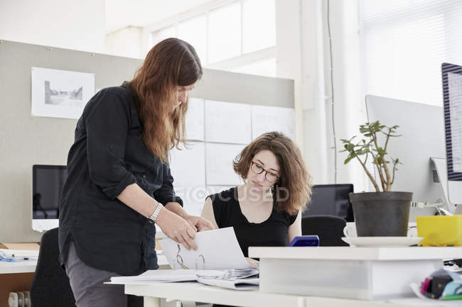 Modern office. Two women — Stock Photo