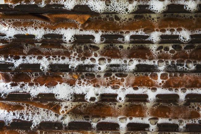 Shelves of apple pulp — Stock Photo
