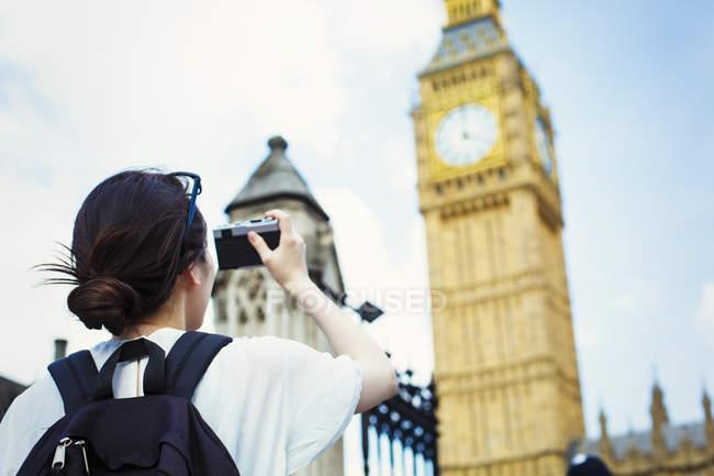Foto de mujer japonesa de Big Ben - foto de stock