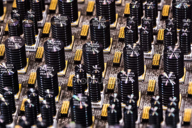 Repeating circuits in machine — Stock Photo