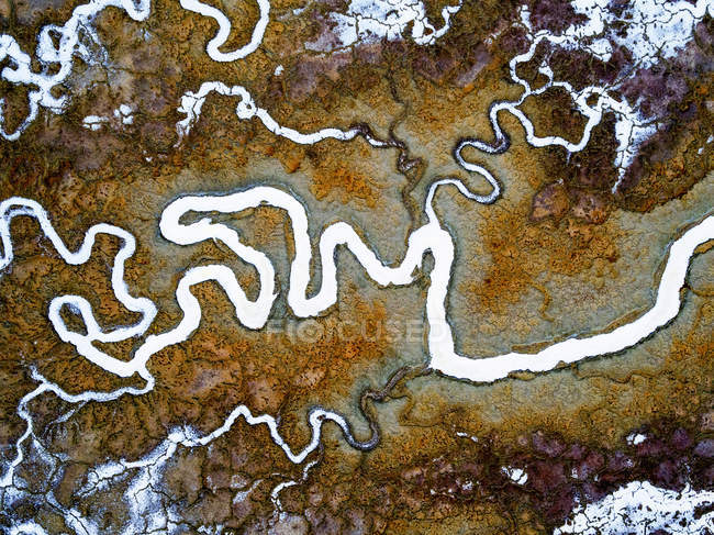 Meandering water channels — Stock Photo