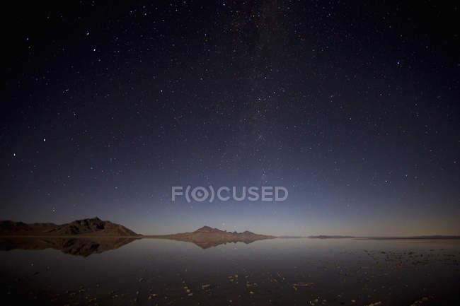 Überfluteten Bonneville Salt Flats — Stockfoto