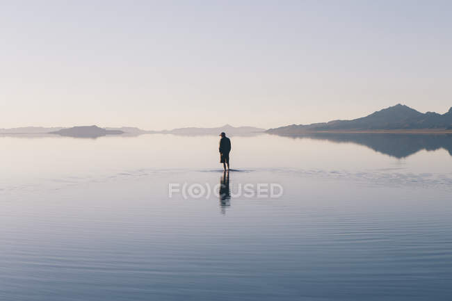 Flooded Bonneville Salt Flats — Stock Photo