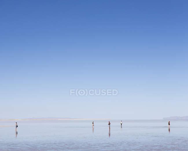Flooded Bonneville Salt Flats — Stock Photo