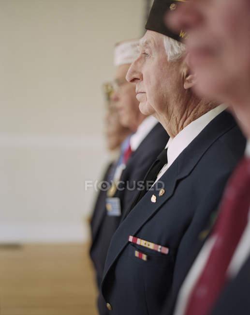 Груповий портрет ветеранів війни — стокове фото