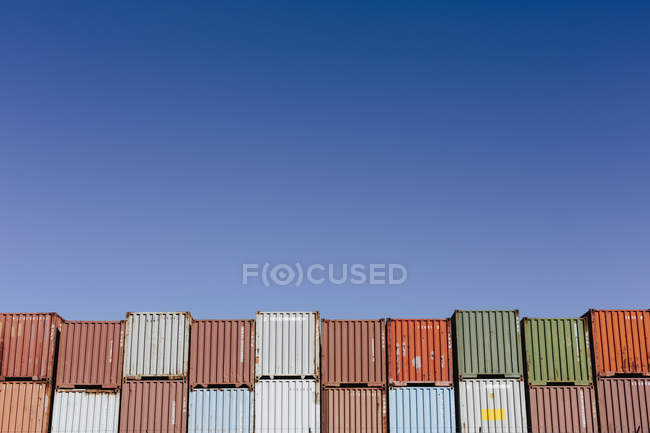 Multi coloured shipping containers — Stock Photo