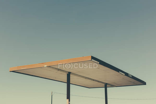 Roof shelter from abandoned gas station — Stock Photo