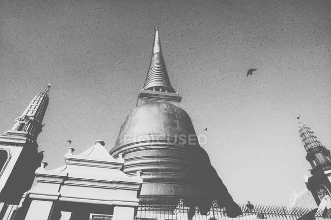Перегляд буддійський храм — стокове фото