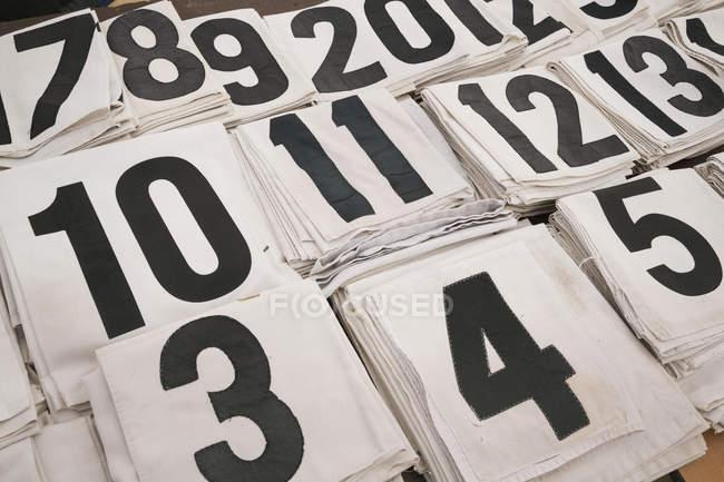 Начало чисел для скачки — стоковое фото