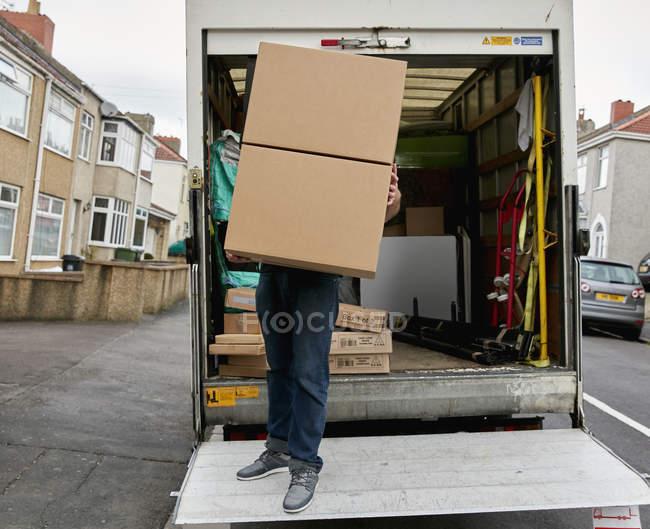 Grande boite à transport homme — Photo de stock