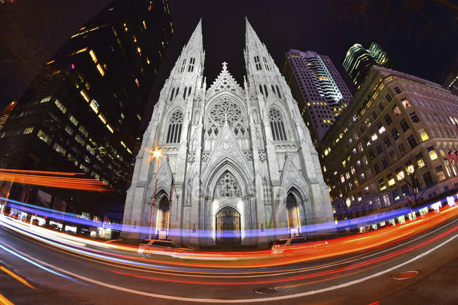St Patrick Cathedral in New York — Stock Photo