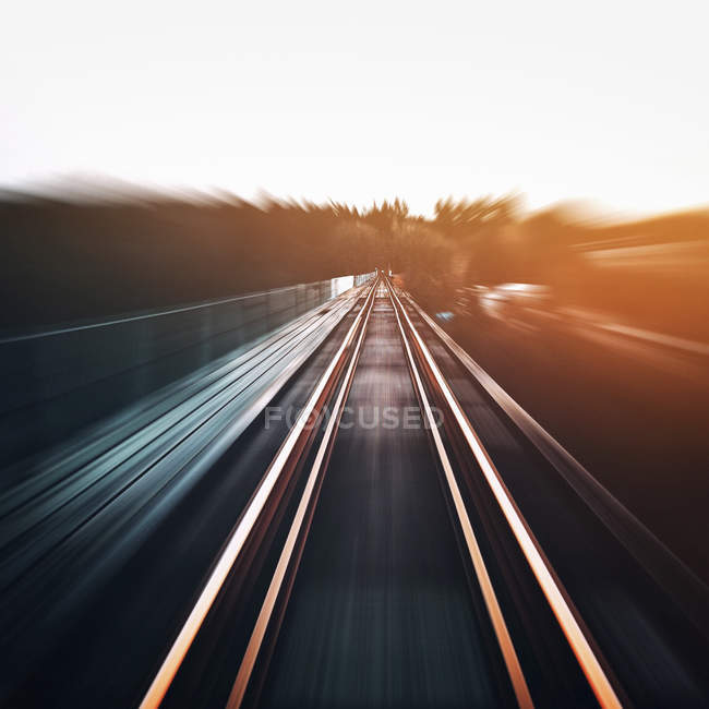 Blurred light trails on a highway. — Stock Photo