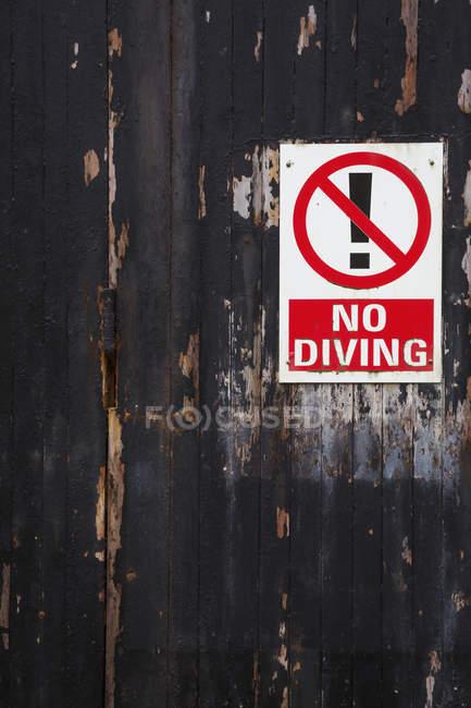 Aucun signe de plongée — Photo de stock