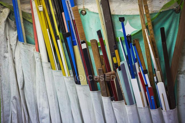 Различные длины древесины — стоковое фото