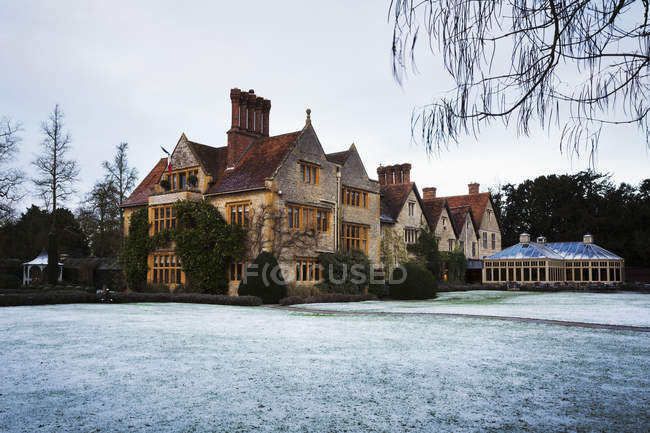Exterior view of Oxfordshire in winter. — Stock Photo