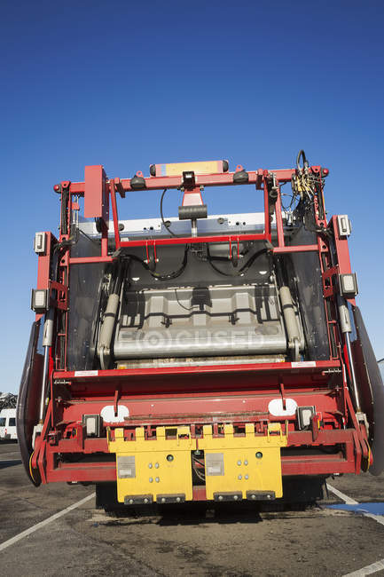 Refuse collection vehicle — Stock Photo