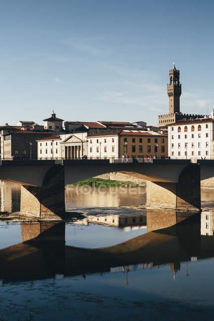 Річки Арно, Флоренція — стокове фото