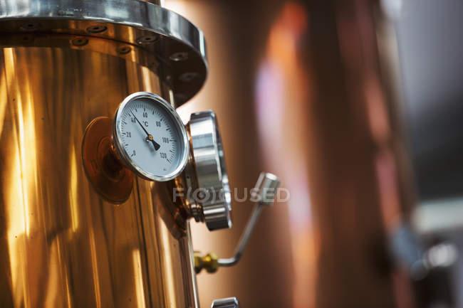 Copper brew kettle — Stock Photo