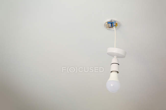 Light fixture with light bulb — Stock Photo