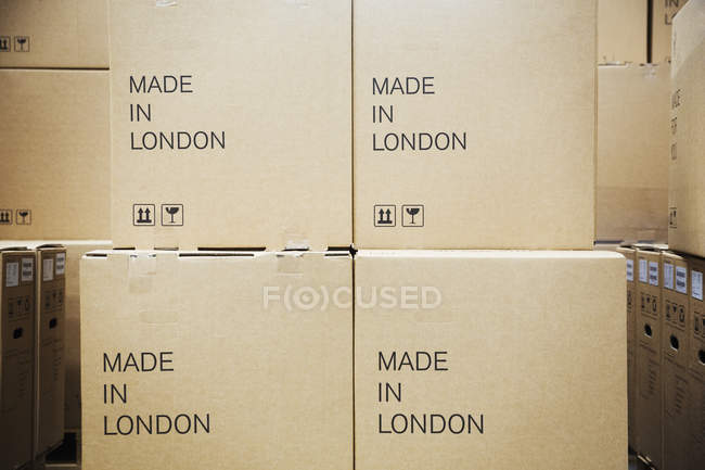 Stack of cardboard boxes — Stock Photo