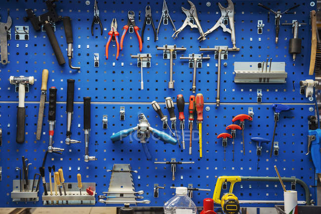 Grand choix d'outils à main — Photo de stock