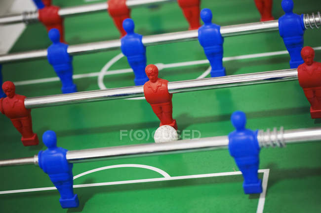 Table football gaming table — Stock Photo