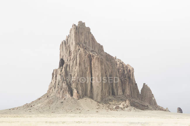 Shiprock, sacred Navajo landmark — Stock Photo