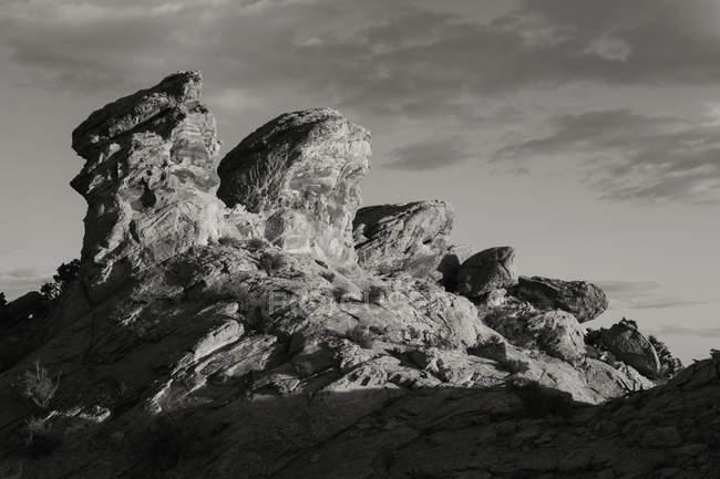 Formações rochosas e cume de Comb Ridge — Fotografia de Stock