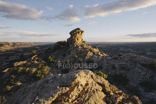 Formações rochosas e o cume do pente Ridge — Fotografia de Stock
