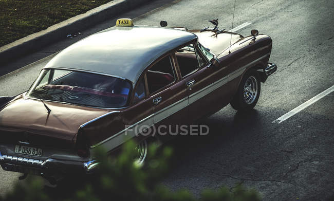 High angle shot of classic car — Stock Photo