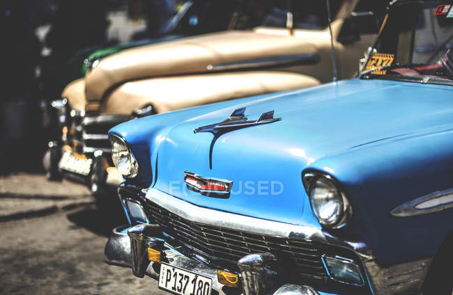 Classic 1950s cars — Stock Photo