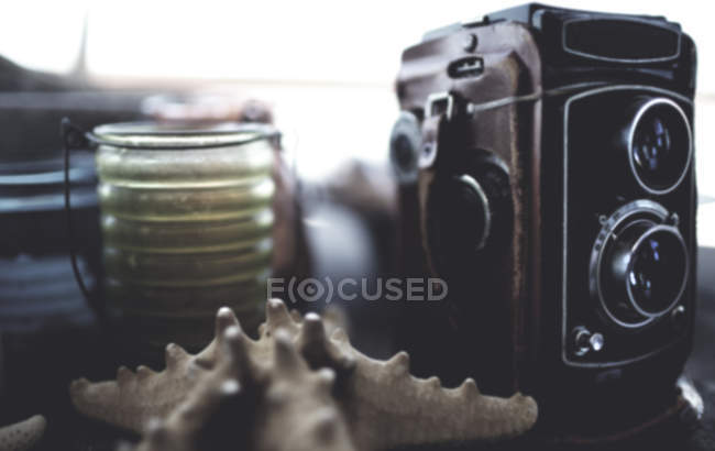 Vintage medium format camera — Stock Photo