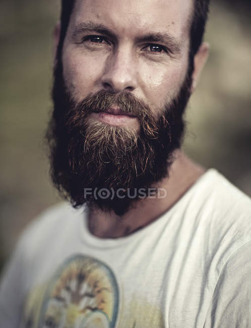 Portrait of bearded man — Stock Photo