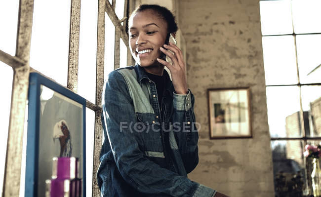 Young woman making call. — Stock Photo