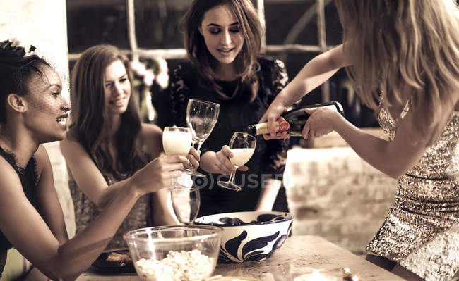 Group of women at party — Stock Photo