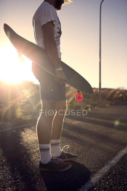 Young man skateboarder — Stock Photo