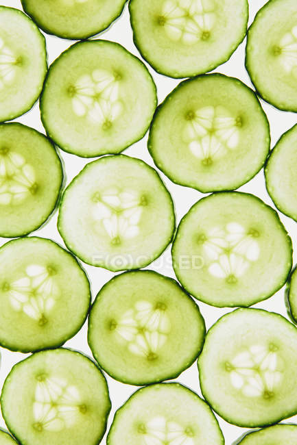 Cucumber slices pattern — Stock Photo