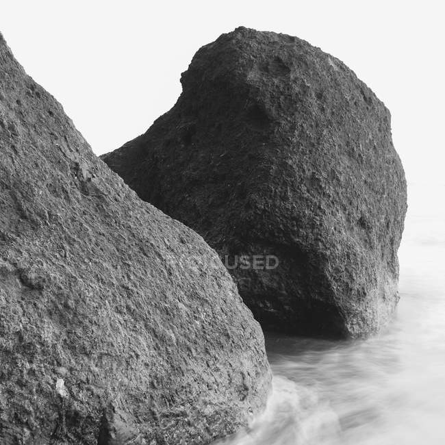 Massi di formazione rocciosa sulla spiaggia di Ruby, Olympic National Park, Washington, Stati Uniti. — Foto stock