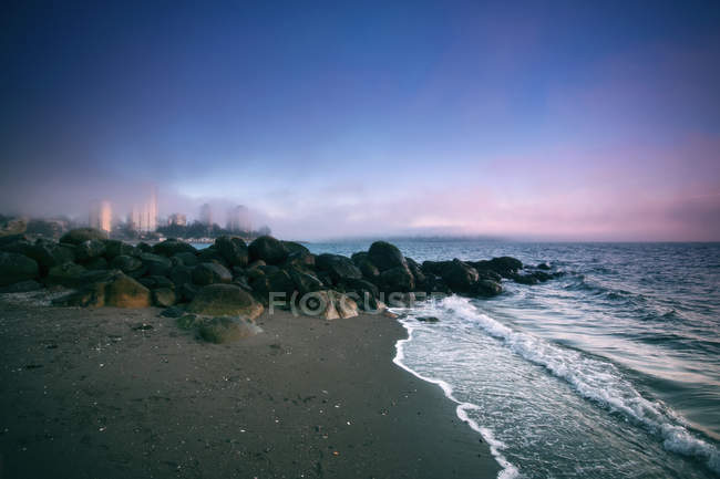 Fog rolling over Stanley Park, British Columbia, Canada — Stock Photo