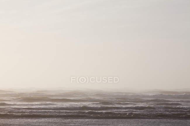 Escena costera de la ola de ruptura del océano en el Parque Nacional Olímpico en Washington, EE.UU. - foto de stock