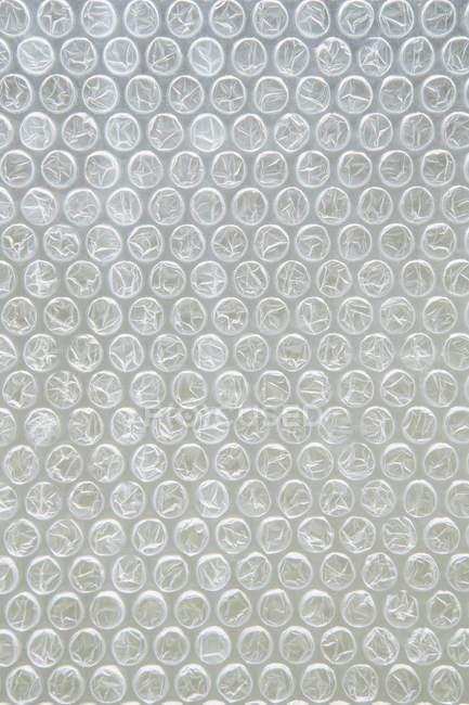 Крупный пузырь обернуть упаковки, полный кадр. — стоковое фото