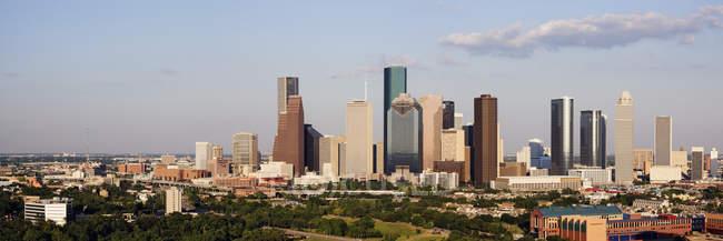 Centro di Houston con skyline di grattacieli, Texas, Stati Uniti d'America — Foto stock