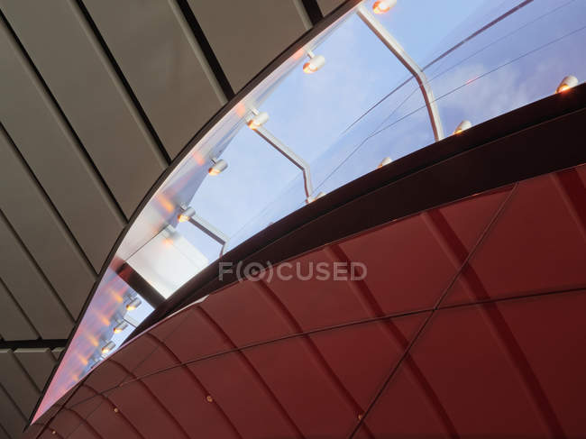 Lights in skylight of building in Dallas, Texas, USA — Stock Photo