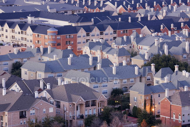 High angle view of residential area in Dallas, Texas, USA — Stock Photo
