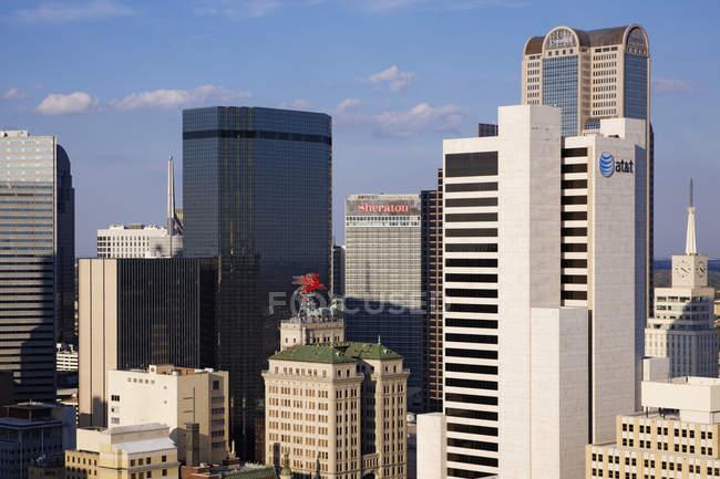 Centro di Dallas con grattacieli, Texas, Usa — Foto stock