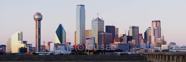 Orizzonte moderno della città di Dallas, Texas, Usa — Foto stock