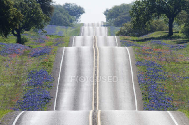 Scenic hilly country road in Texas, USA — Foto stock