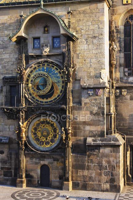Reloj antiguo ayuntamiento, Praga, República Checa - foto de stock