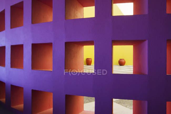 Modern interior wall, San Jose Los Cabos, Baja California, Mexico — Stock Photo