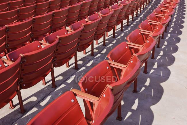 Assentos para eventos, Chicago, Illinois, EUA — Fotografia de Stock